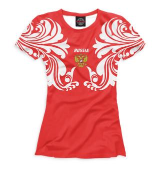 Футболка женская Россия (1364)