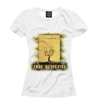 Футболка женская True detective (yellow theme)