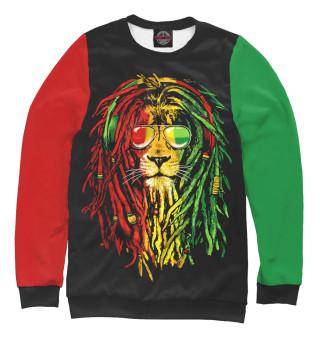 Одежда с принтом Регги, лев
