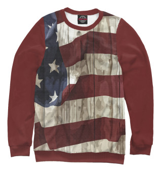 Одежда с принтом USA grunge