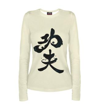 Лонгслив  женский Panda Hieroglyph