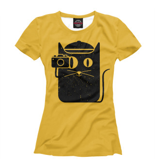 Футболка женская Cat and camera