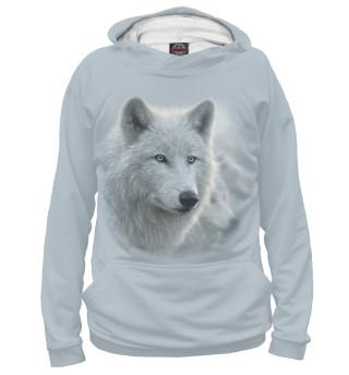 Худи женское Белый волк
