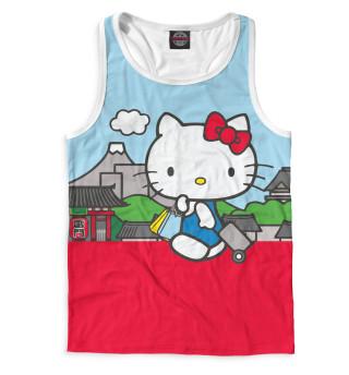 Майка борцовка мужская Hello Kitty (3935)