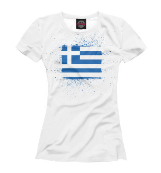 Футболка женская Греческий флаг