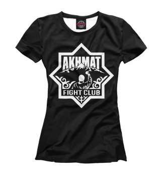 Футболка женская Akhmat logo