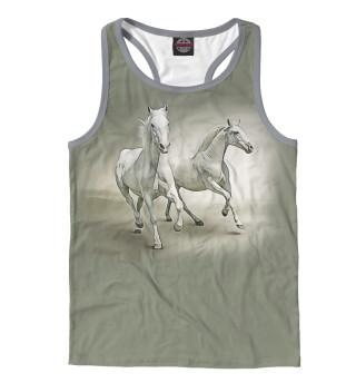 Майка борцовка мужская Пара лошадей