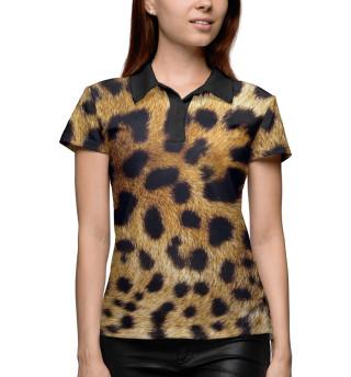 Поло женское Леопард (8151)
