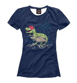 Футболка женская Динозавр (7850)