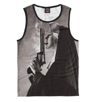 Майка мужская Nun with big gun