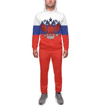 Спортивный костюм  мужской Триколор и герб