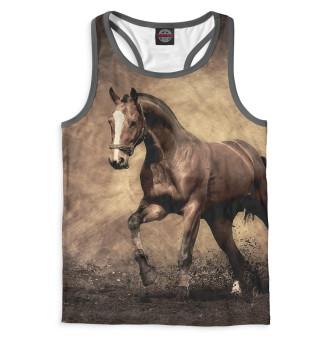 Майка борцовка мужская Лошади (5823)