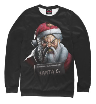 Одежда с принтом Санта зомби