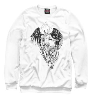 Одежда с принтом Ангел и лев