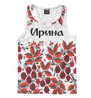 Майка борцовка мужская Ирина роспись хохлома