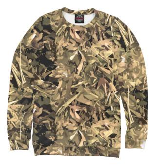 Одежда с принтом Камуфляж - листья