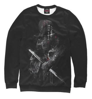 Одежда с принтом Чёрный самурай