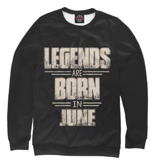 Одежда с принтом Июнь - рождение легенды