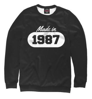 Одежда с принтом Сделано в 1987 (806911)
