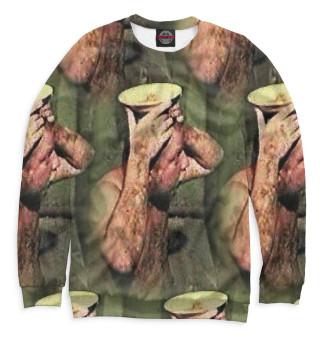 Одежда с принтом Зеленый слоник (133936)
