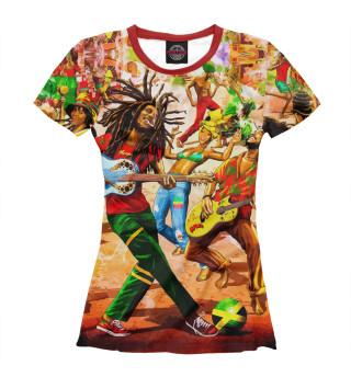 Футболка женская Ямайка, Боб Марли