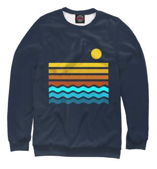 Одежда с принтом Закат на море