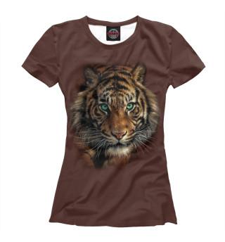 Футболка женская Тигр (6143)
