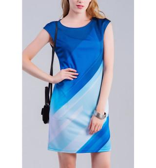 Платье без рукавов  Линии
