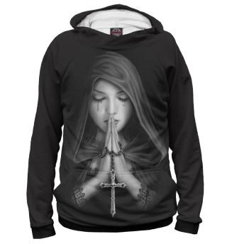 Худи женское Девушка молится