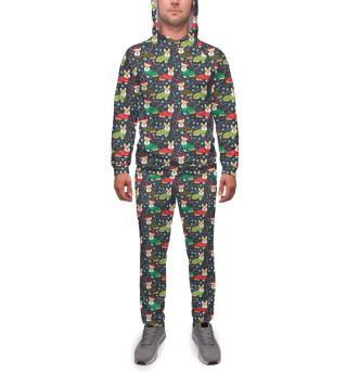 Спортивный костюм  мужской Happy christmas corgi