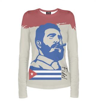 Лонгслив  женский Фидель Кастро - Куба