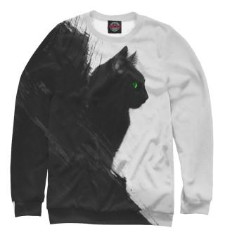 Одежда с принтом Чёрный кот