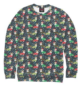 Одежда с принтом Happy christmas corgi