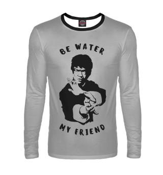 Лонгслив  мужской Be Water My Friend