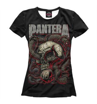 Футболка женская Pantera Skull and Snake