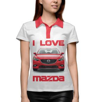 Поло женское I love MAZDA