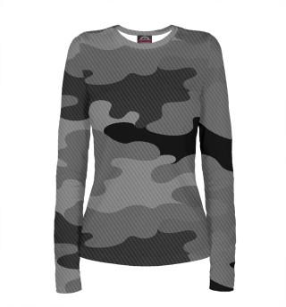 Лонгслив  женский camouflage gray
