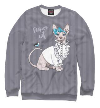 Одежда с принтом Fashion cat