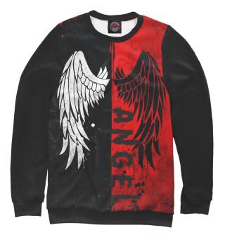 Одежда с принтом Черный-белый ангел