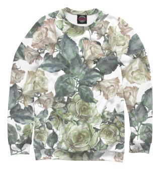 Одежда с принтом Белые розы (558865)