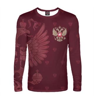 Лонгслив  мужской Герб России (4595)