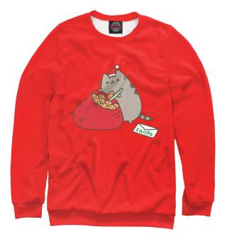 Одежда с принтом Pusheen Santa