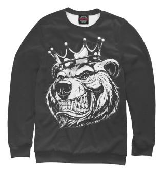 Одежда с принтом Медведь король