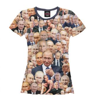 Футболка женская Путин коллаж