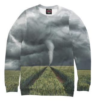 Одежда с принтом Ураган в поле