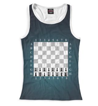 Майка борцовка женская Шахматы (3904)