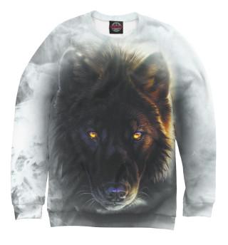 Одежда с принтом Волк в дыму