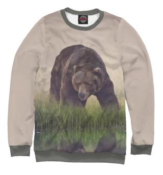 Одежда с принтом Бурый медведь