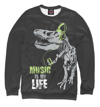 Одежда с принтом Music is my life