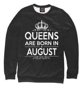 Одежда с принтом Королевы рождаются в августе (754172)